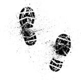 Splash shoe print