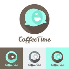 Vector modern flat coffee shop, cafe or restaurant logo
