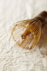 Bamboo tea whisk (close up)