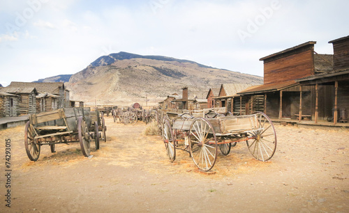 Foto op Canvas Cultuur Old west, Old trail town, Cody, Wyoming, United States