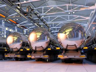 Machine in the hangar.