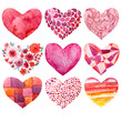 valentines day watercolor heart holiday love object - 74294241