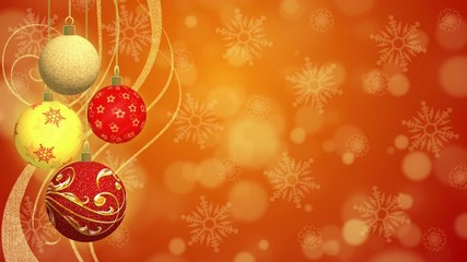 Christmas Balls Animated Background