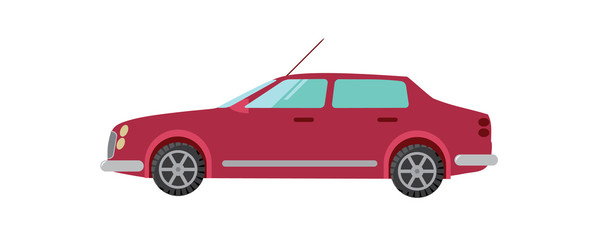 red car vector illustration sedan
