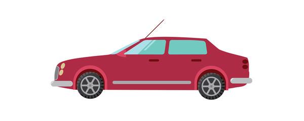 red car vector illustration sedan