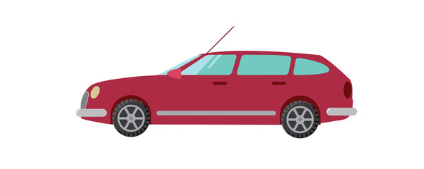 red car vector illustration wagon