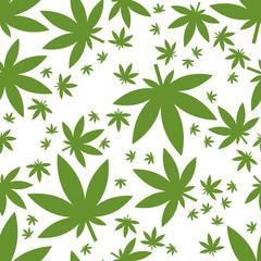 weed seamless pattern