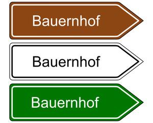Schild Bauernhof