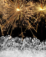 abstract background with sparklers