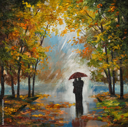 oil-painting-on-canvas-couple-in-the-forest