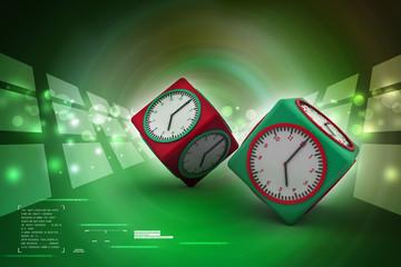 3d watch in cube