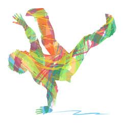 silhouette astratta di ballerino di hip hop