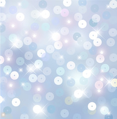 Beautiful winter light blue - white sparkling background vector