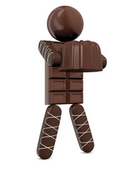 chocolate man