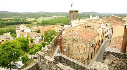Vista aérea de Hostalric, Girona
