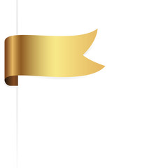 golden ribbon / sticker