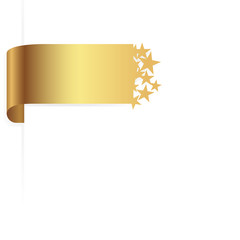 golden ribbon / sticker stars