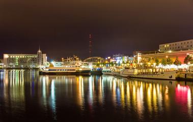 Boats in the Kiel seaport - Germany, Schleswig-Holstein