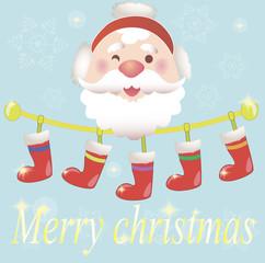 Christmas vector with Santa Claus