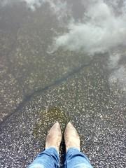 Il cielo riflesso ai miei piedi