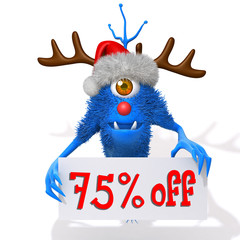 Monster christmas sale 75 percent discount