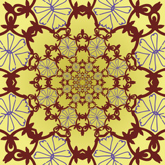 vector pattern with roses in the Oriental style. not seamless
