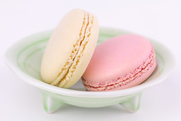 French macarons, close up