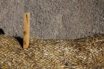 Hay in Netting - Fiber Roll in Work