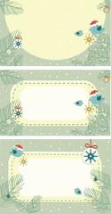 set of christmas tags, cards
