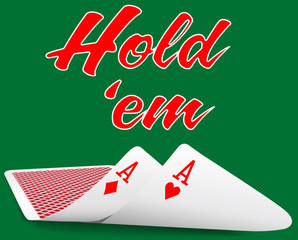 Holdem Poker pair ace cards under
