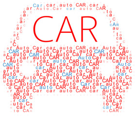 Car symbol Auto words icon