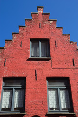 Red hisoric house in Bruges
