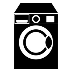Washing machine vector icon isolated