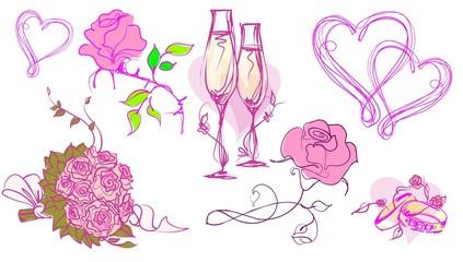 background for wedding design