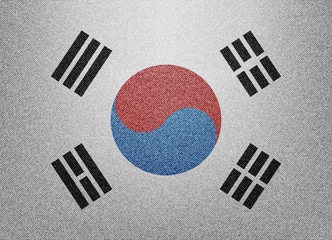 South Korea denim flag
