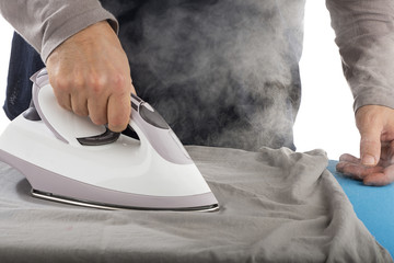 Electric iron with steam