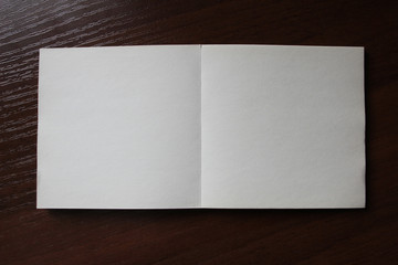 Blank paper square
