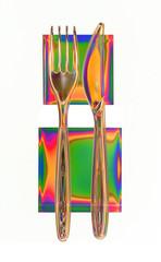 Colourful cutlery