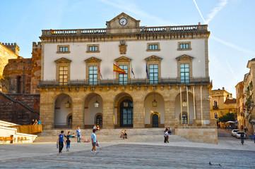 Plaza Mayor y Ayuntamiento de Cáceres, Extremadura