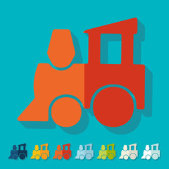 Flat design: childrens train