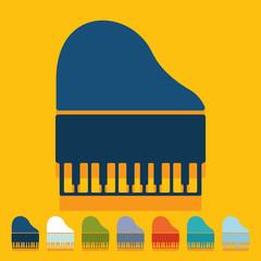 Flat design: piano
