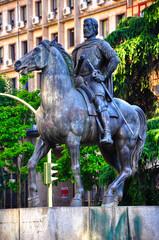 Cáceres, España, monumento a Hernán Cortés, México