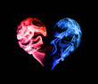 Red and blue heart - 74304470