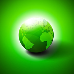 Green World Icon Symbol