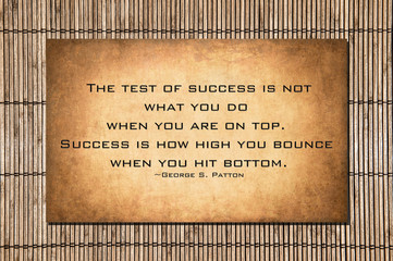 The test of success - General Patton