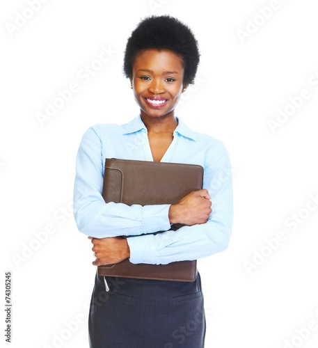 canvas print picture Young african business woman
