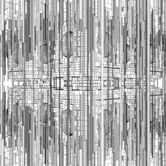 Futuristic Megalopolis City Structure