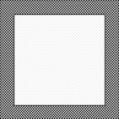 Frame, black, white gingham check, square polka dot copy space