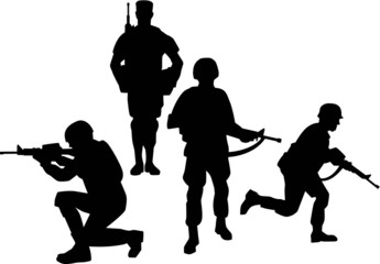 Soldier Group Silhouettes