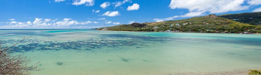 panorama de la baie aux huitres, Rodrigues.